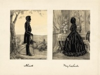 Silhouette Portrait of Abraham & Mary Todd Lincoln