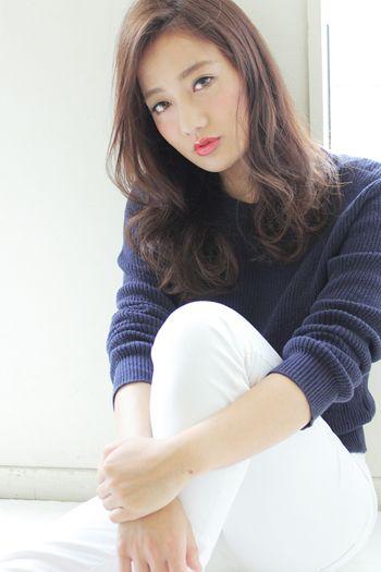 やわらか質感のモーブカラー★ナチュラルセミロング【高山】
