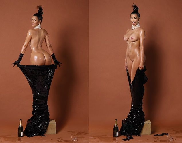 Continúa la polémica con las fotos de Kim Kardashian: aparece completamente desnuda en 'Paper' - economiahoy.mx