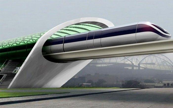 Вакуумный поезд будущего Hyperloop