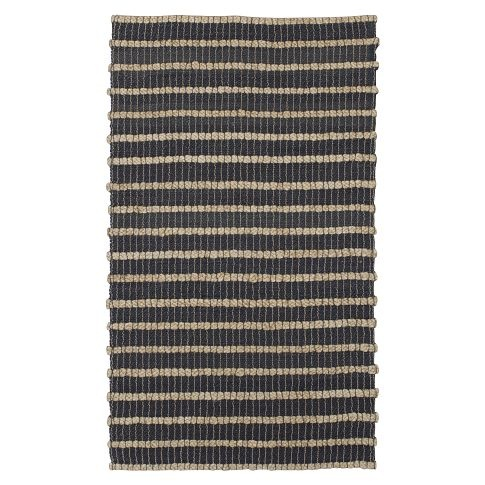 west elm two tone jute rug