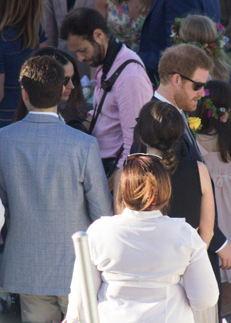Prince Harry looked every bit a handsome Prince as he undertook his official usher duties at the ceremony in Montego Bay.      Prince Ha...
