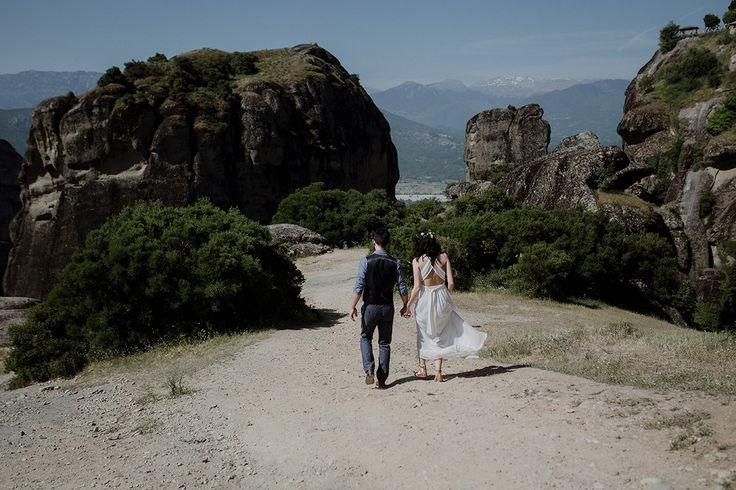 Mountainous Elopement at Meteora, Greece