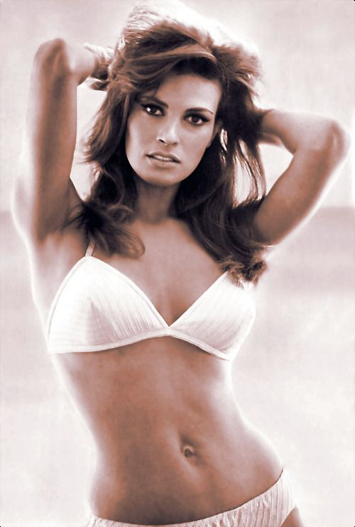 raquel welch  white bikini  1970s
