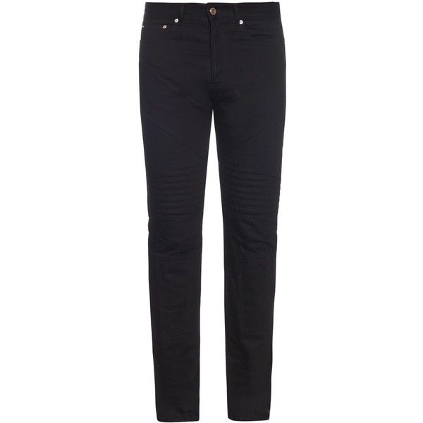 Givenchy Cuban-fit skinny jeans ($318) ❤ liked on Polyvore featuring men's fashion, men's clothing, men's jeans, black, mens super skinny jeans, mens skinny fit jeans, mens skinny jeans and mens cuffed jeans