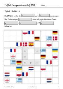 Kostenlos: Arbeitsblätter, Spiele, Rätsel zur Fussball Europameisterschaft 2012