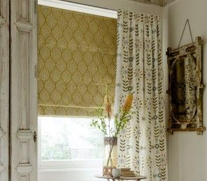 Spring is now on it's way set your home up with our lovely Clarke & Clarke Zari collection Roman Blinds!