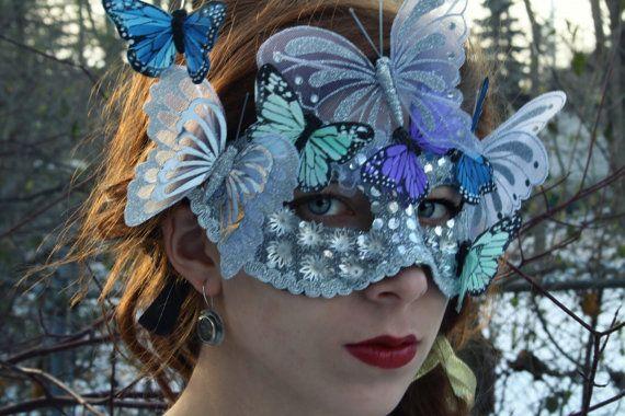 Masquerade Mask Silver masquerade ball mask by WildRoseAndSparrow