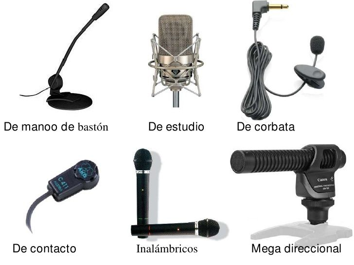 Estos son algunos de los micrófonos que se utilizan, dependiendo de la escena que se tenga que grabar