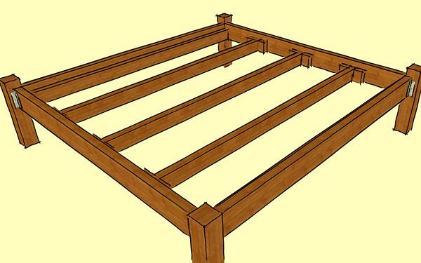 Build a wooden bed frame wikihow diy pinterest for Build a simple bed frame
