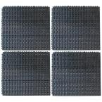 36 in. x 36 in. Industrial Rubber Anti-Fatigue Interlocking Mats (Set of 4), Black