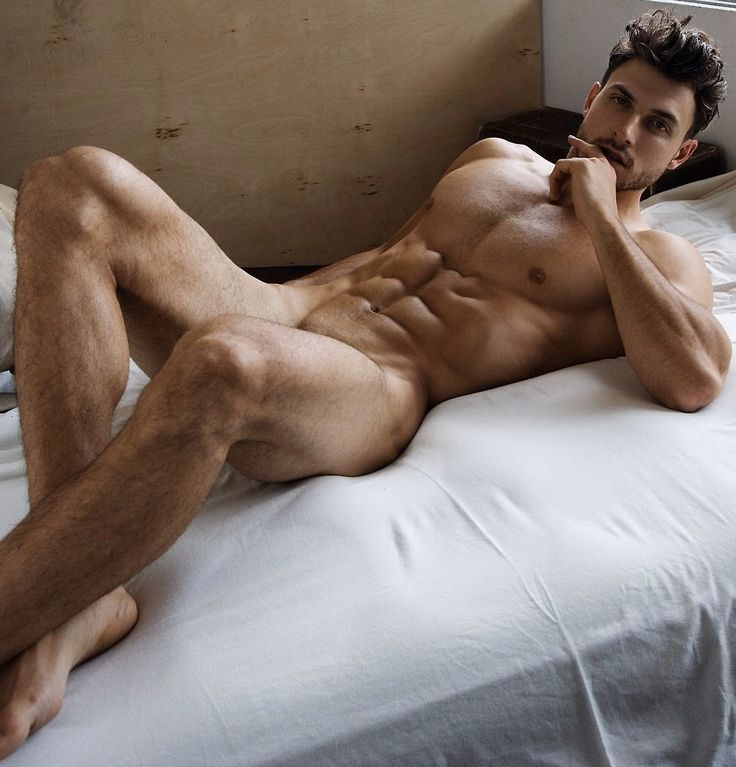 sexy posing naked male