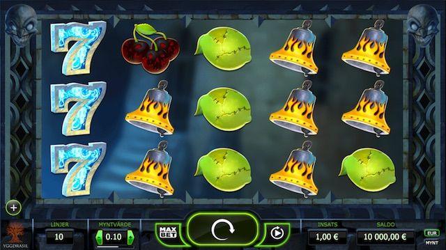 Jävulskt snyggt spel med mörk baksida. Tre eller fler Scatter ger en Mystery Win. Efter varje vinst hamnar du i Jokerizer Mode där redan två jokrar en Mystery Win.