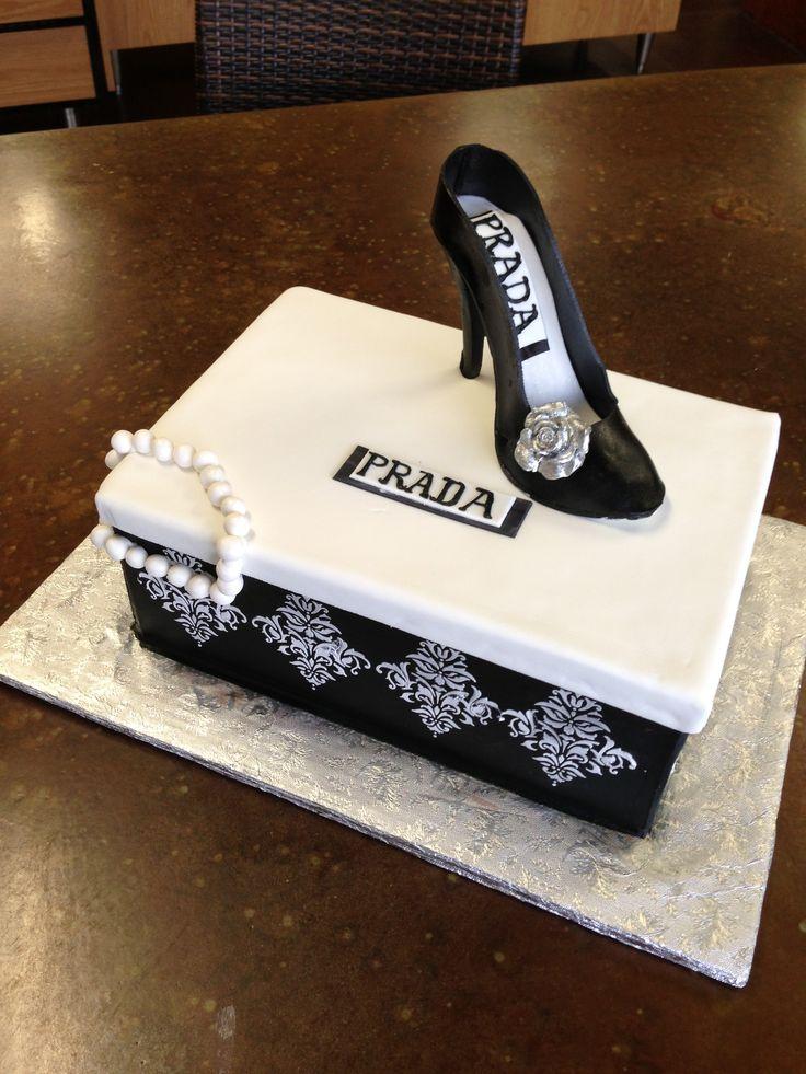 Black Prada Shoe And Shoe Box Cake Sweet Layers Cakes