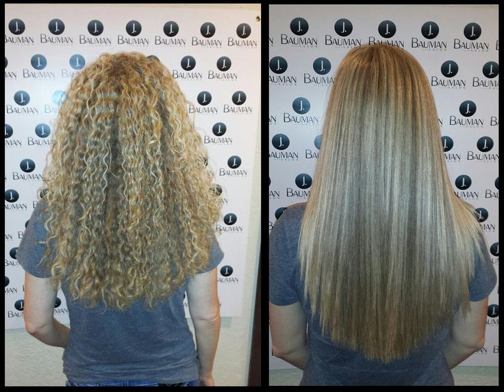Keratin Treatment (Before and After)