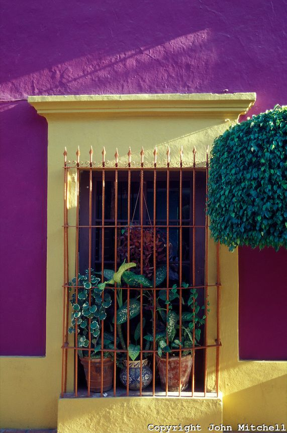 Barred Window Spanish Colonial House Old Mazatlan