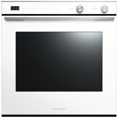 Fisher & Paykel OB60SL7DEW1 80927 Seven Function 77L Electric Built-in Single Oven White | Appliances Direct