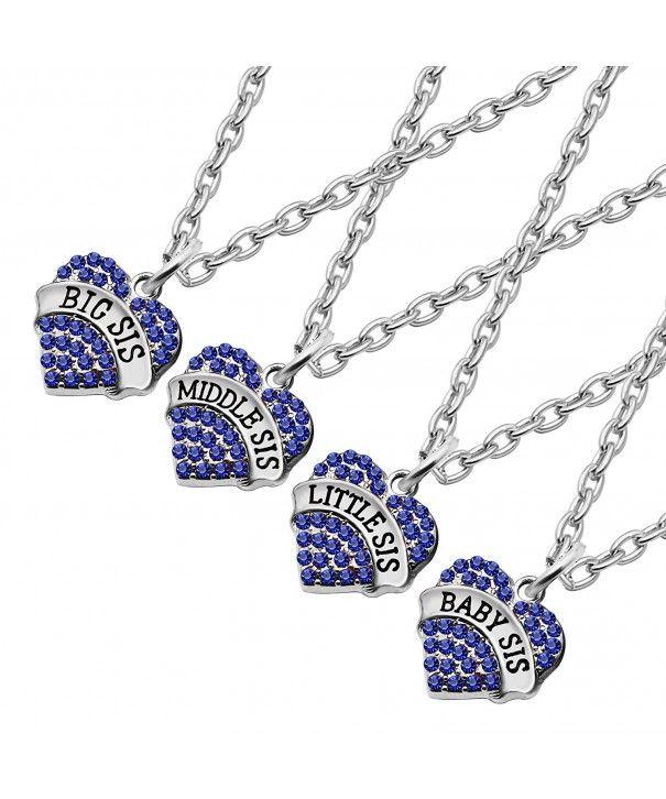f5afa86474cdd Necklaces, Pendants,4Pcs Family Jewelry Set Pendant Necklace Big ...