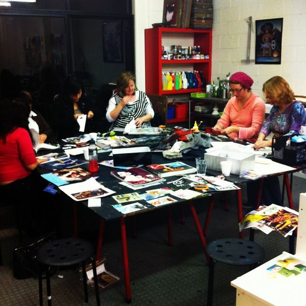 Craftin' and Collagin' for #etsy global craft party