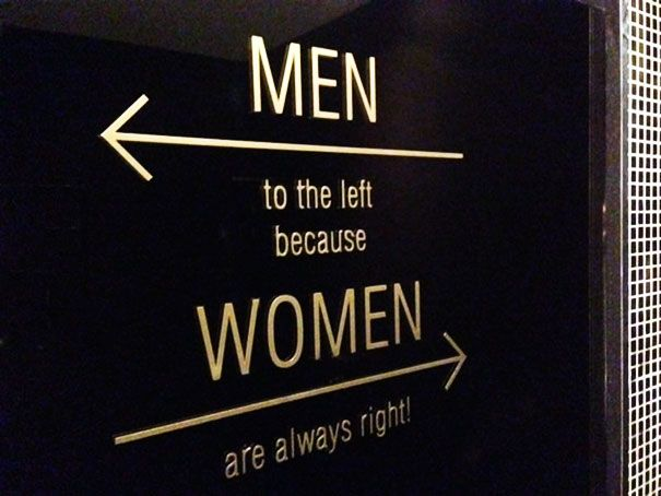 Women are always right! #funnysigns