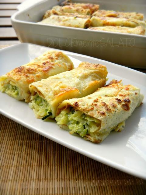 DOLCEmente SALATO: Crepes con zucchine, patate e caciotta