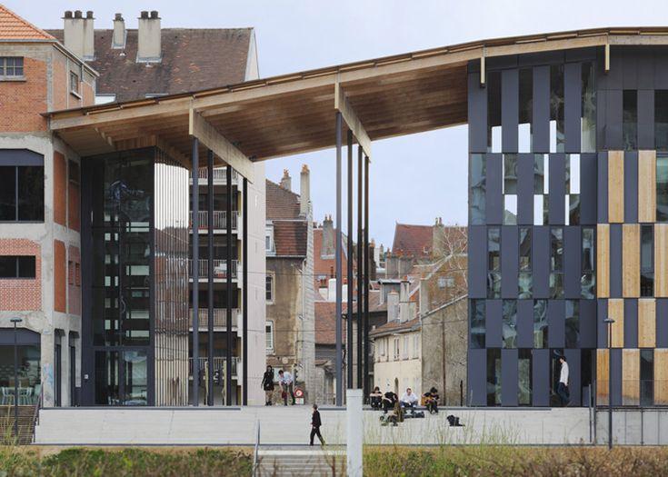 Besançon Art Centre and Cité de la Musique by Kengo Kuma