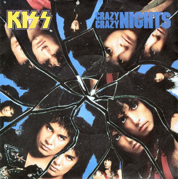 "KISS Crazy Crazy Nights 1987 Uk 7"" 45 rpm Vinyl Single record rock metal pop 80s music kiss7 Free s&h"
