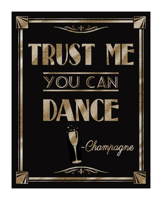 Printable TRUST ME-you can dance-Champagne-Great by PSPrintables