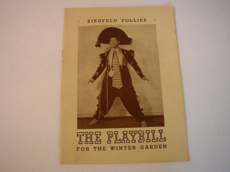Playbill 1943 Winter Garden Theatre Ziegfeld Follies Milton Berle Broadway NYC Musical Arthur Treacher Souvenir Book by aroundtheclock on Etsy