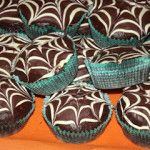 ❝ Muffin al Cioccolato Decorati con Ragnatela ❞