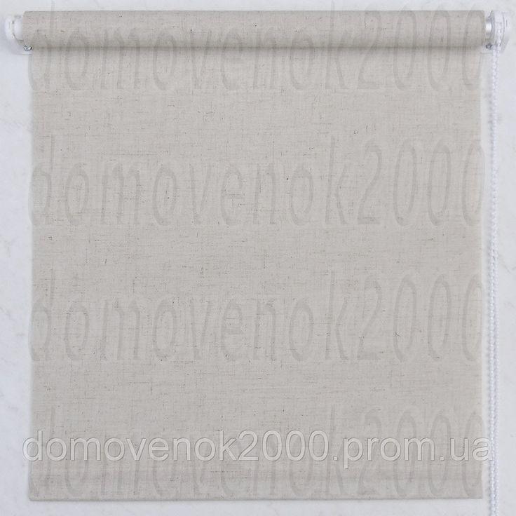 """150 х 170 см. Рулонные шторы, цвет ткани """"Натуральный лен"""""""