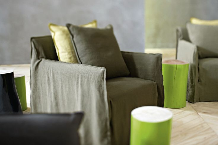ARMCHAIR WITH ARMRESTS WITH REMOVABLE COVER GHOST 05 GHOST COLLECTION BY GERVASONI | DESIGN PAOLA NAVONE