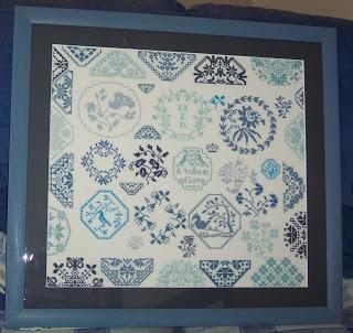 Beatrix Potter Quaker sampler - finished and framed!