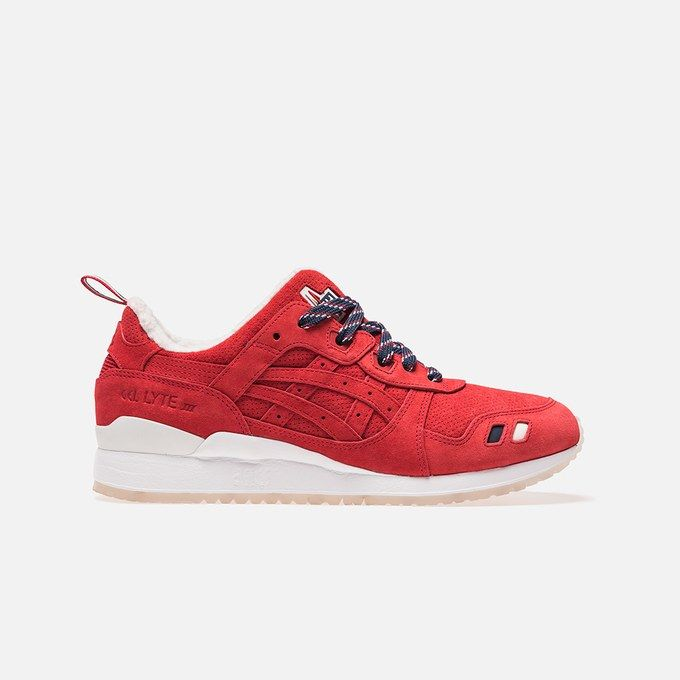 ASICS Gel Lyte III Kith x Moncler Red