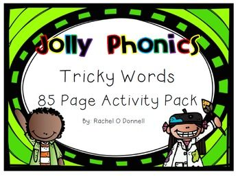 85 page Jolly Phonics Tricky Words activity pack :)with games and worksheets