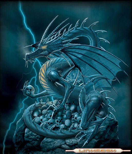 dragón calaveras