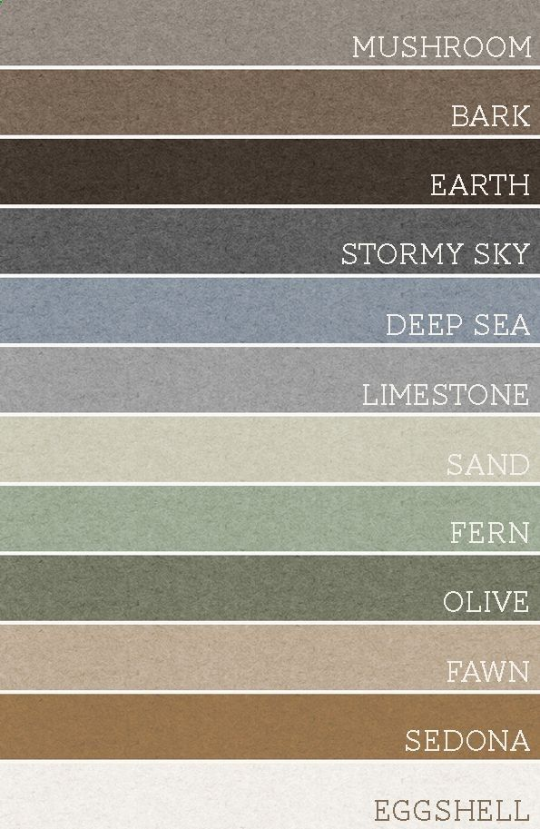 Soothing, natural colors for home. Take any set of 3 of these colors and each room would be amazing. A palette for the whole house!