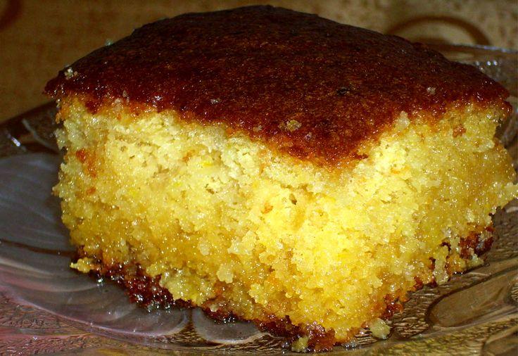 Ραβανί με άρωμα πορτοκάλι Revani (Greek Semolina Cake With Orange Syrup)