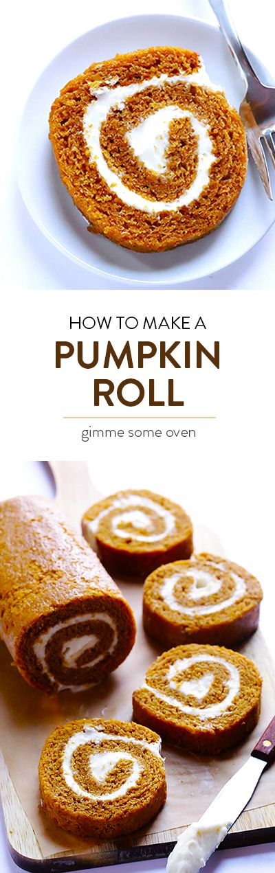 Learn how to make a classic Pumpkin Roll with this delicious recipe and step-by-step tutorial | gimmesomeoven.com