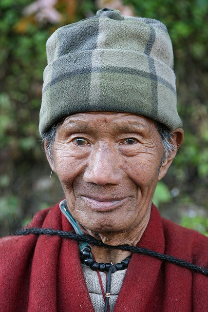 Man of Bhutan  #world #cultures, old guy, wrinckles, hat, lines of life, emotional, expression, powerful face, intense eyes, portrait