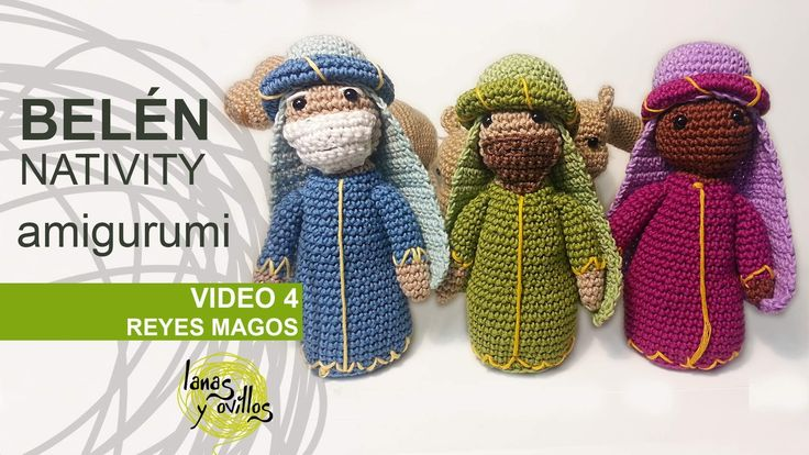 Tutorial Belen Amigurumi Part 4: Reyes Magos (Nativity ...