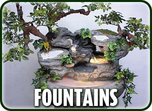 Indoor Tabletop Fountains, Stone Candle Holders Garden Sculpture By Natural  Creations