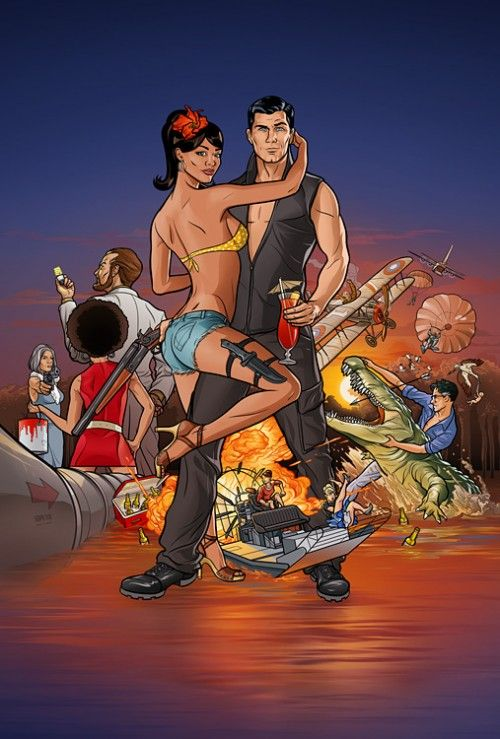 Archer! A animated sitcom mash-up of Jonny Quest, The Office, and Get Smart. Watch and laugh.