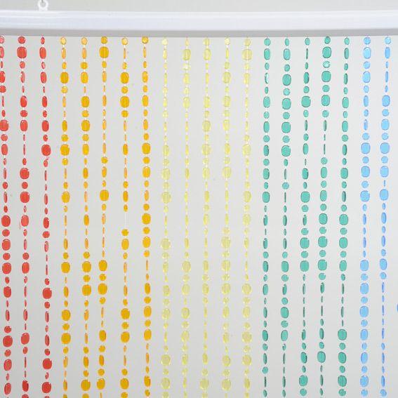 Rideau de porte perles multicolore eminza foret de l na rideaux de perles pour porte - Rideaux de perles pour portes ...