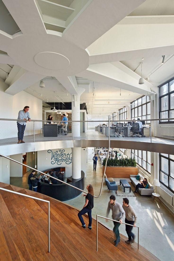 WORKacs Design For The New York Offices Of Wieden Kennedy Sq Ft Office Embraces Urban Density As Its Motto A Minimal Compression