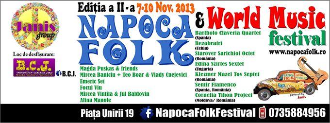 Napoca Folk Festival, ediția a II-a, 7-10 noiembrie 2013