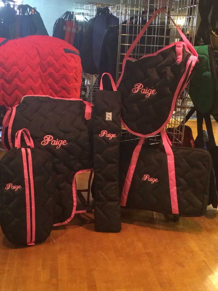 Horse show organization! All of your investments are all in their separate bags and easy to find. Www.stylestableblanket.com