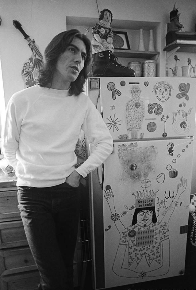 George In His Kitchen At Kinfauns April 1969 The Beatles George Harrison Beatles George