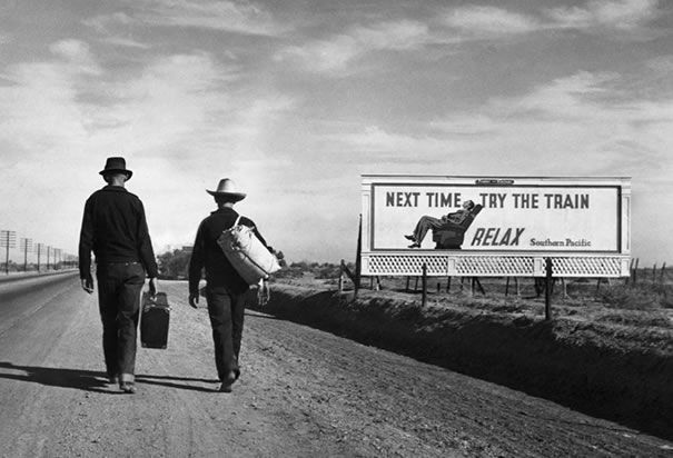 """Dust Bowl Refugees"" In the 1930's, 375,000 Okies and Arkies migrated to California in search of a better life.: Photographers, Training, The Roads, Dorothea Lang, California, The Angel, Art, Depression, Photography"