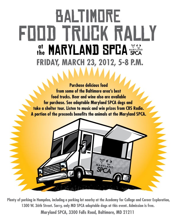 Food trucks at the MD SPCA this Friday!  http://www.facebook.com/#!/events/335956803122778/: Food Truck